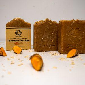 dee rose turmeric oat bar soap