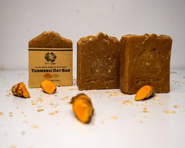 dee rose turmeric oat bar soap scaled