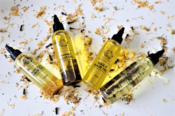dee rose hair oil infused organic natural family scaled